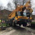 Leveling the crane